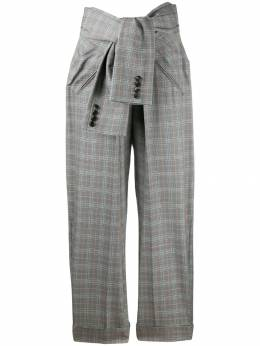 Alexander Wang - tie waist check trousers 09959669503300900000
