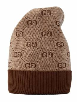 Gucci Kids шапка бини c узором GG 5747204K208