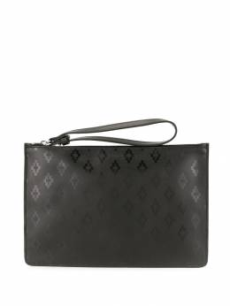 Marcelo Burlon County Of Milan - cross logo print clutch bag A693E998556669696950