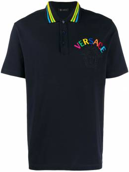 Versace - embroidered logo polo T-shirt 569A0036659503369600