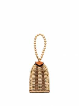 Ulla Johnson - Raya woven bracelet bag 99963UMBER9569968600