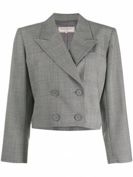 Yves Saint Laurent Pre-Owned - 1980's cropped doublebreasted blazer 056G9503936900000000