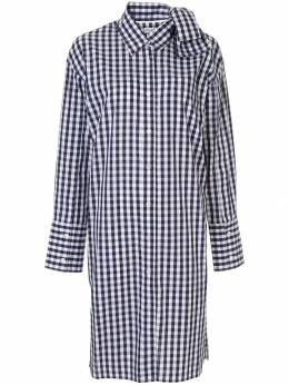 JW Anderson - check bow collar shirt dress 5699D603880950596930