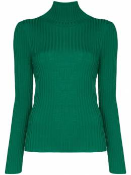 Plan C - turtleneck ribbed knit top MA58K66FW66393866833