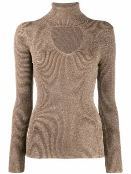 P.A.R.O.S.H. - turtleneck sweatshirt with glitter details LUXD5908059505885300