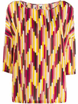 M Missoni - printed cropped sleeve blouse 666560W669C950399000