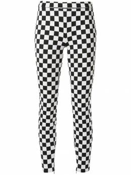 Boutique Moschino - check print skinny trousers 63699393653863000000
