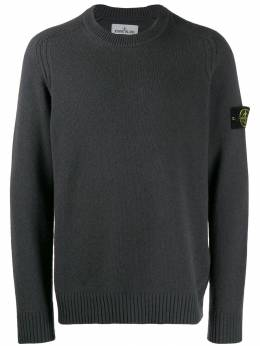 Stone Island - logo patch knitted sweater 5550A395033938000000