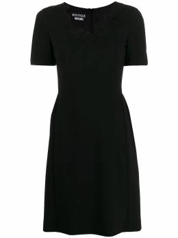 Boutique Moschino - card patch dress 59690595038966000000