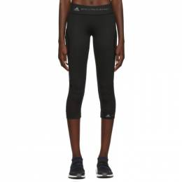 Adidas by Stella McCartney Black Three-Quarters Performance Essentials Leggings 192755F08500601GB