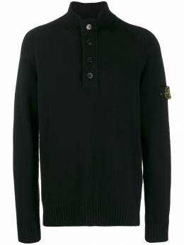 Stone Island - button-up turtleneck sweater 5530A395033058000000