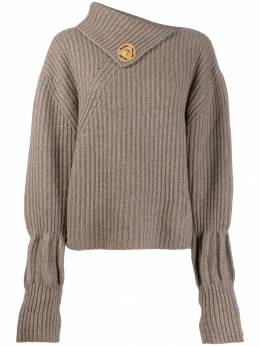 JW Anderson - ribbed wool and cashmere-blend jumper 3599D595609950555330