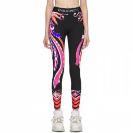 Emilio Pucci	 Multicolor Burle Print Leggings 192743F08500102GB