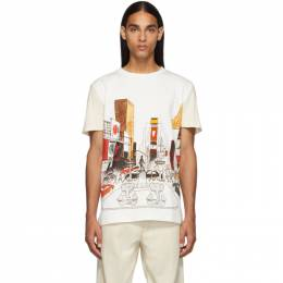 Lanvin White and Off-White Panel Babar NY T-Shirt 192254M21301002GB