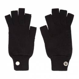 Rick Owens Black Mittens Gloves 192232F01200301GB