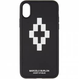 Marcelo Burlon County Of Milan Black and White 3D iPhone X Case 192539F03200501GB