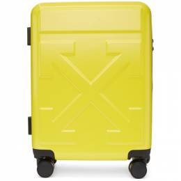 Off-White Yellow Arrows Trolley Carry-On Suitcase 192607F05000501GB