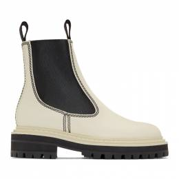 Proenza Schouler White and Black Lug Sole Chelsea Boots 192288F11300305GB