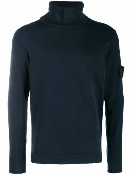 Stone Island Shadow Project - compass badge turtleneck jumper 566A0V66069503365300