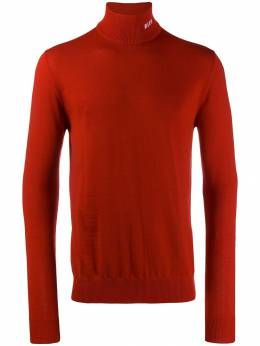 MSGM - turtleneck knitted sweater 6MM93099558095036359