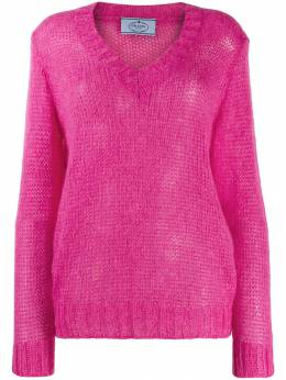 Prada - open knit v-neck jumper T6CS9909VD9950899980