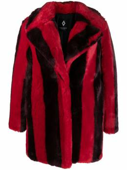 Marcelo Burlon County Of Milan - striped faux-fur coat A683E99C9995606A3959