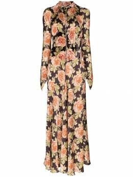 Paco Rabanne - floral print flared dress CRO668PO606893855039