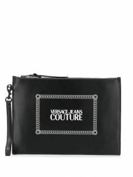 Versace Jeans Couture - logo print zipped clutch P9656330950590650000
