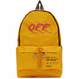 Off-White Yellow Industrial Backpack 192607F04201401GB
