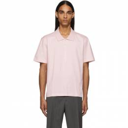 Thom Browne Pink Relaxed Fit Side Slit Polo 192381M21200602GB