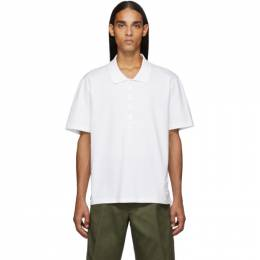 Thom Browne White Relaxed Fit Polo 192381M21200206GB