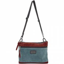 Master-Piece Co Red and Blue Revise Bag 192401M17001601GB
