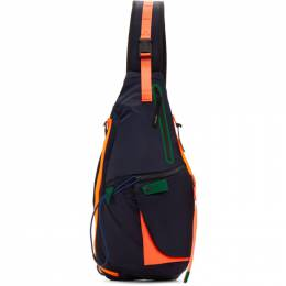 Master-Piece Co Navy Game-Neon Sling Backpack 192401M16603101GB