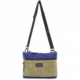 Master-Piece Co Beige and Blue Revise Bag 192401M17001701GB