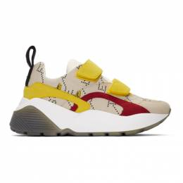Stella Mccartney Beige and Yellow The Beatles Edition Submarine Eclypse Sneakers 192471F12802504GB