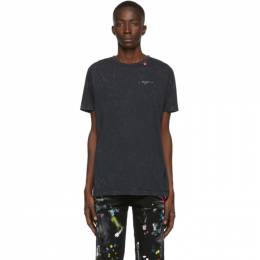 Off-White Navy Marble Slim T-Shirt 192607M21300507GB