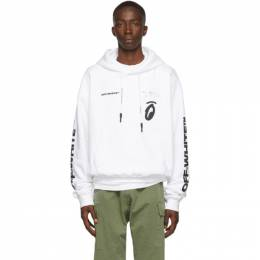Off-White White Splitted Arrows Hoodie 192607M20201104GB