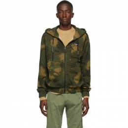 Off-White Khaki Paintbrush Camouflage Hoodie 192607M20202003GB