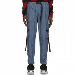 Off-White Blue Parachute Cargo Pants 192607M18800102GB