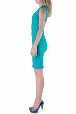Herve Leger Jade Green Sleeveless Scoop Neck Bandage Dress XS 211370