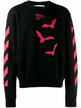 Off-White - Bats-print diagonal stripe sweatshirt A605E99D056639606959
