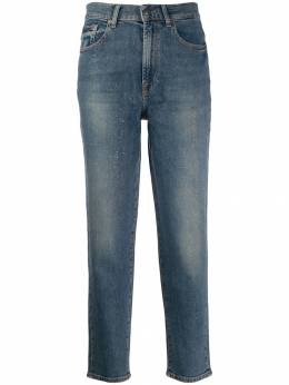 7 For All Mankind - glitter straight jeans 3K856LW9509686500000