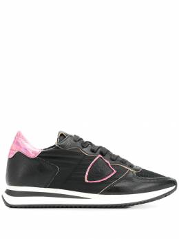 Philippe Model - logo panelled lace-up sneakers ITZLD950365800000000
