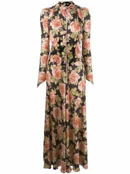 Paco Rabanne - rose printed victorian dress CR6668PO606895093356