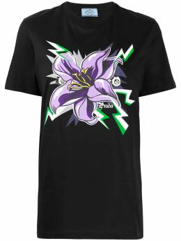 Prada - graphic flower print T-shirt 38S9699VDL9506086500