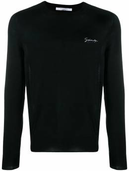Givenchy - chest logo knitted sweater 69K5Y509536655500000