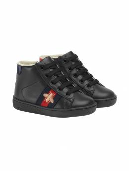Gucci Kids Toddler's leather high-top sneakers 526166CPWP0
