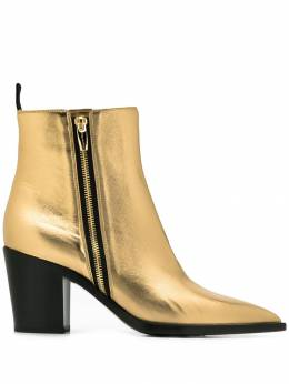 Gianvito Rossi - metallic-effect ankle boots 556NPS95088990000000