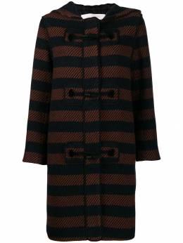 See By Chloé - striped duffle coat 99AMA656659505053800