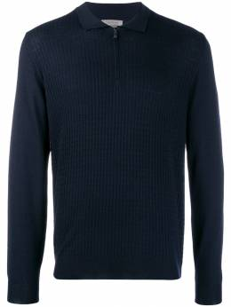 Corneliani - long-sleeved zip-up pullover 56698059659503985600